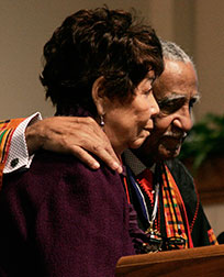 Evelyn and the Rev. Joseph Lowery are honored in 2011 for their years of dedication to civil rights. Evelyn Lowery passed away Sept. 26, 2013.